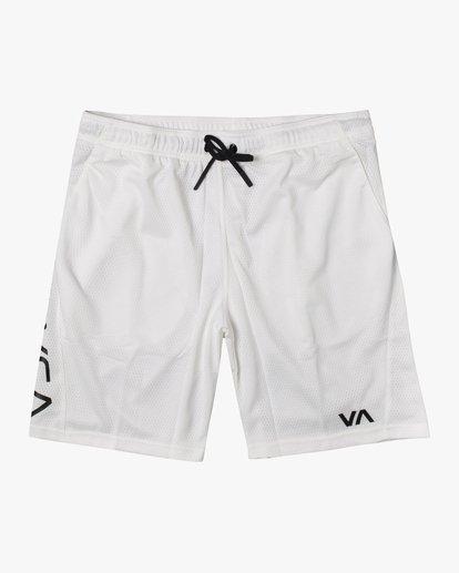 """0 VA Mesh Gym Shorts 20"""" White V2033RME RVCA"""