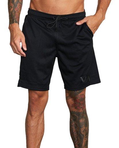"4 VA Mesh Gym Shorts 20"" Black V2033RME RVCA"