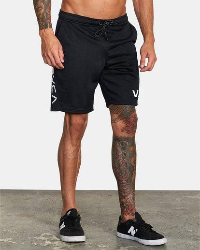 "3 VA Mesh Gym Shorts 20"" Black V2033RME RVCA"