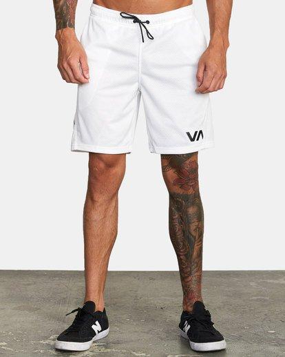 """1 VA Mesh Gym Shorts 20"""" White V2033RME RVCA"""