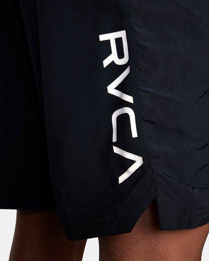 """9 YOGGER FLEX WORKOUT SHORTS 18"""" Black V2041RYA RVCA"""
