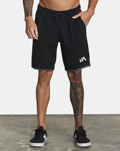 "1 VA Sport IV Gym Shorts 20"" Black V2063RSS RVCA"