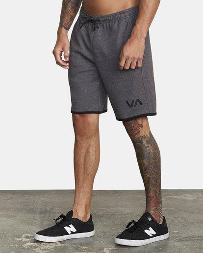 """3 VA Sport IV Gym Shorts 20"""" Grey V2063RSS RVCA"""