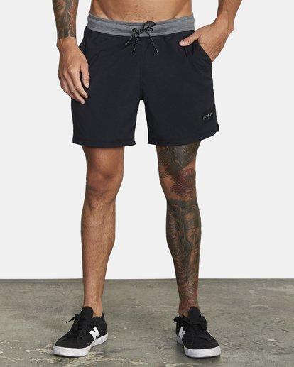 """1 Utility Gym Shorts 20"""" Black V2073RUS RVCA"""