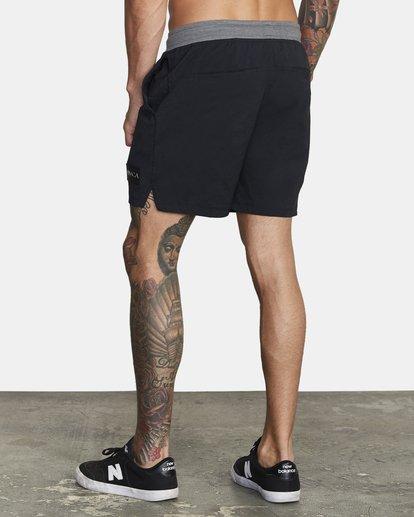 """4 Utility Gym Shorts 20"""" Black V2073RUS RVCA"""