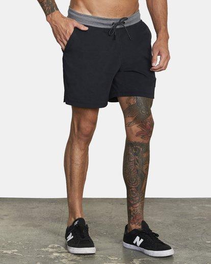 """6 Utility Gym Shorts 20"""" Black V2073RUS RVCA"""