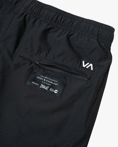 "11 EVERLAST YOGGER IV 17"" WORKOUT SHORT Black V2091REY RVCA"