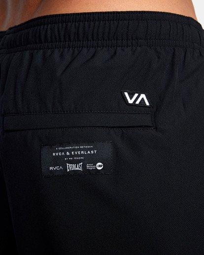 "16 EVERLAST YOGGER IV 17"" WORKOUT SHORT Black V2091REY RVCA"