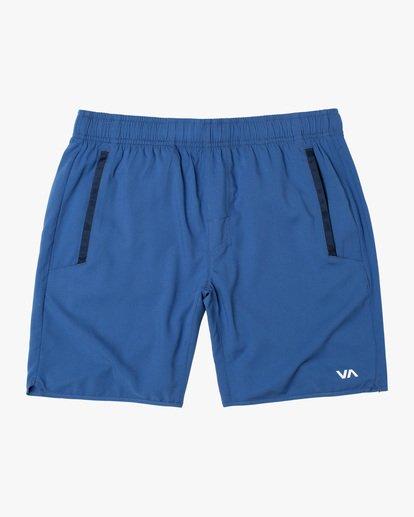 "0 YOGGER IV Recycled 17"" WORKOUT SHORT Blue V2091YGR RVCA"