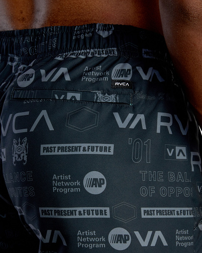 "7 YOGGER IV ATHLETIC SHORTS 17"" Black V2091YGR RVCA"