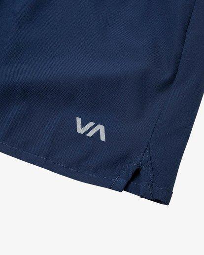 """17 YOGGER 17"""" STRETCH WORKOUT SHORT Blue V2103RYS RVCA"""