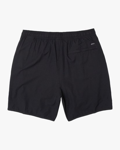 "1 Yogger Lined Athletic Shorts 17"" Black V2113RYL RVCA"