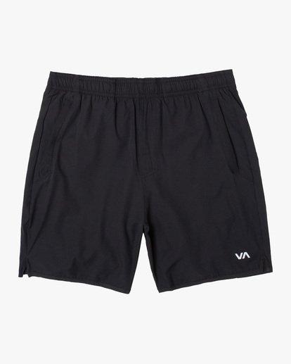 "0 Yogger Lined Athletic Shorts 17"" Black V2113RYL RVCA"