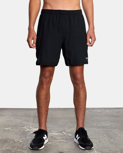 "5 Yogger Lined Athletic Shorts 17"" Black V2113RYL RVCA"