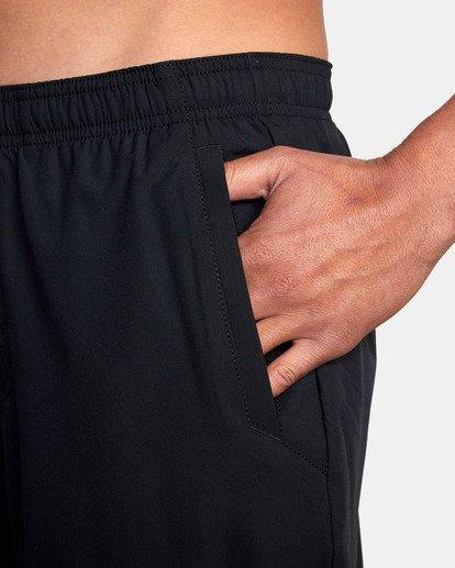 "12 Yogger Lined Athletic Shorts 17"" Black V2113RYL RVCA"