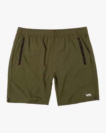"0 Yogger IV Athletic Shorts 17"" Green V2133RYG RVCA"
