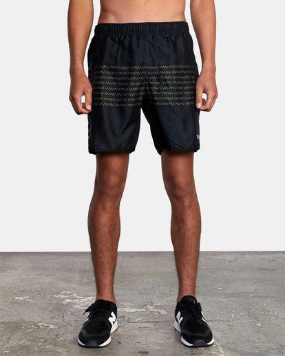 """3 Yogger IV Athletic Shorts 17"""" Black V2133RYG RVCA"""