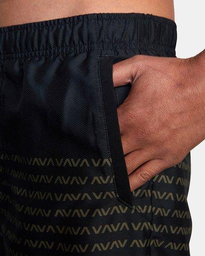"""10 Yogger IV Athletic Shorts 17"""" Black V2133RYG RVCA"""