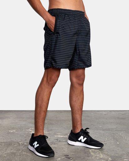 """6 Yogger IV Athletic Shorts 17"""" Black V2133RYG RVCA"""