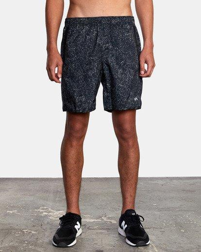 """2 Yogger IV Athletic Shorts 17"""" Black V2133RYG RVCA"""