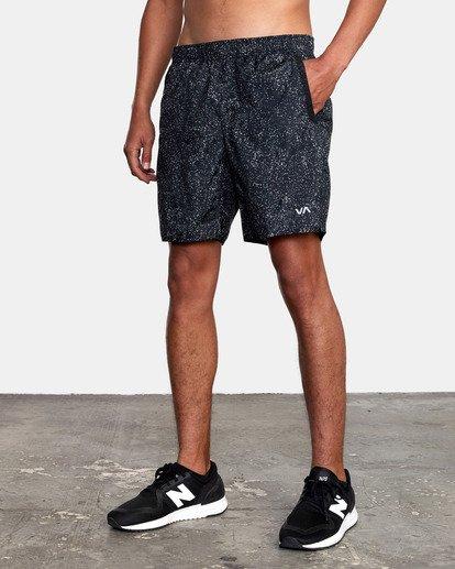 """5 Yogger IV Athletic Shorts 17"""" Black V2133RYG RVCA"""