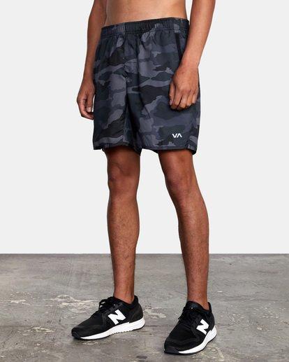 """5 Yogger IV Athletic Shorts 17"""" Brown V2133RYG RVCA"""
