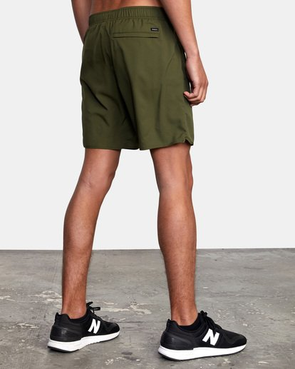 "6 Yogger IV Athletic Shorts 17"" Green V2133RYG RVCA"
