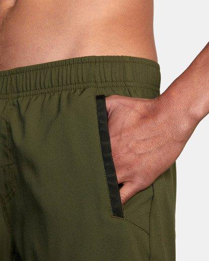 "7 Yogger IV Athletic Shorts 17"" Green V2133RYG RVCA"