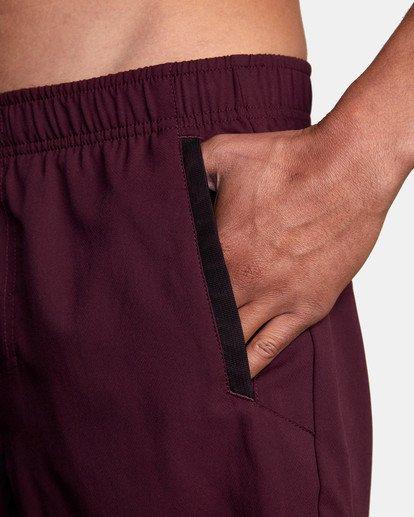 """7 Yogger IV Athletic Shorts 17"""" Pink V2133RYG RVCA"""