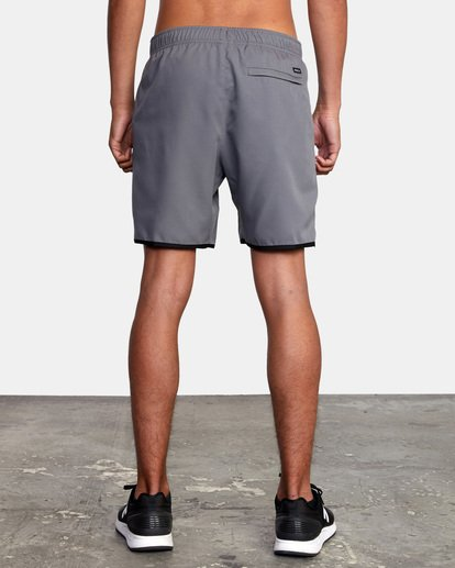 """3 Yogger IV Athletic Shorts 17"""" Grey V2133RYG RVCA"""