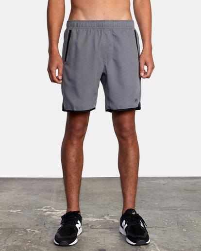 """2 Yogger IV Athletic Shorts 17"""" Grey V2133RYG RVCA"""