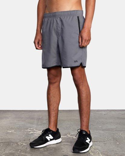 """5 Yogger IV Athletic Shorts 17"""" Grey V2133RYG RVCA"""