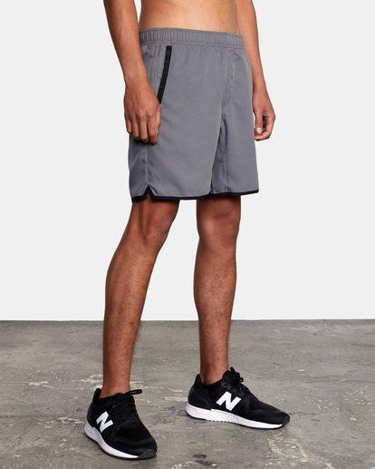"""7 Yogger IV Athletic Shorts 17"""" Grey V2133RYG RVCA"""