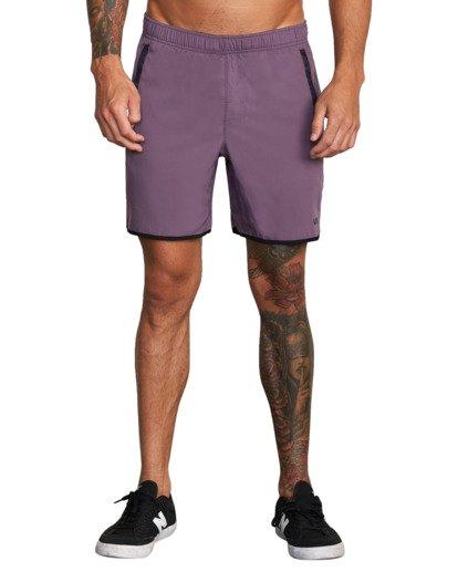 "1 Yogger IV Athletic Shorts 17"" Multicolor V2133RYG RVCA"