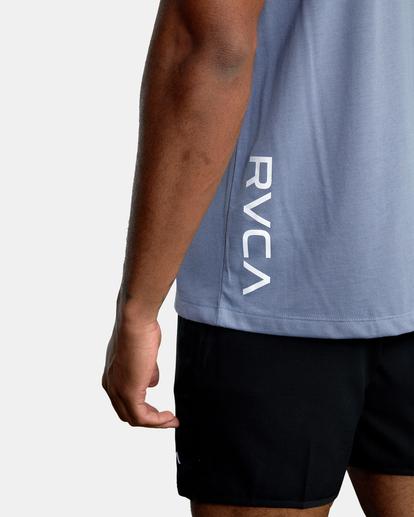 9 RVCA 2X Workout Shirt Blue V4041RRX RVCA