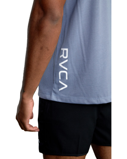 7 RVCA 2X Workout Shirt Blue V4041RRX RVCA