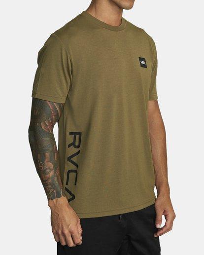 6 RVCA 2X SHORT SLEEVE TEE Green V4041RRX RVCA