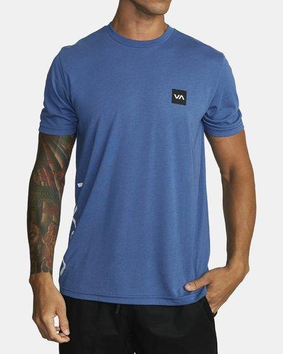 0 RVCA 2X Workout Shirt Blue V4041RRX RVCA