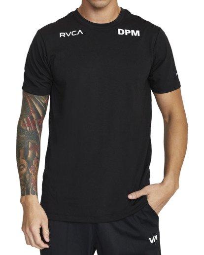 5 DPM SPORT TEE Black V4043RDP RVCA