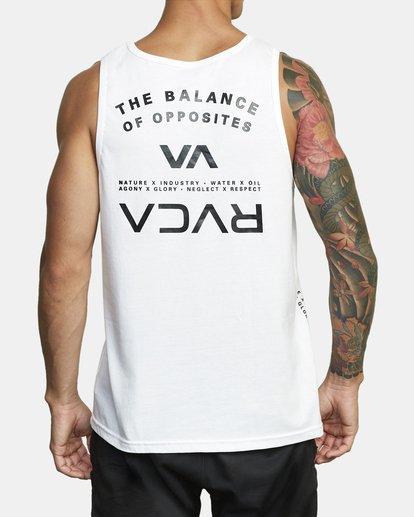2 BALANCE ARC TANK TOP White V4813RBA RVCA