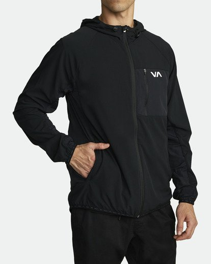 4 YOGGER TRACK JACKET Black V7023RYJ RVCA