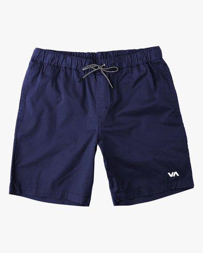 "0 VA Sport | Spectrum Workout Shorts 18"" Blue VL202SPE RVCA"
