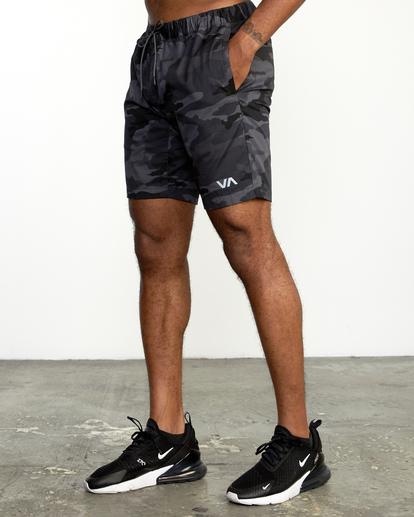"4 Spectrum Workout Shorts 18"" Brown VL202SPE RVCA"