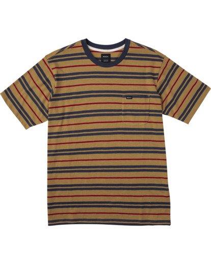 0 Capistrano Stripe - T-shirt pour Homme Gris W1KTRARVP1 RVCA