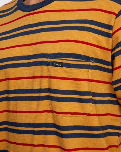 3 Capistrano Stripe - T-shirt pour Homme Gris W1KTRARVP1 RVCA