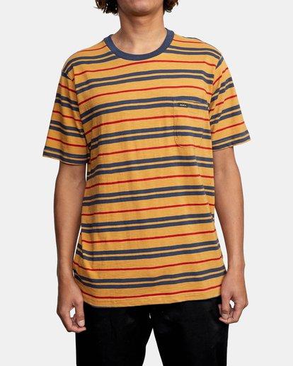 1 Capistrano Stripe - T-shirt pour Homme Gris W1KTRARVP1 RVCA