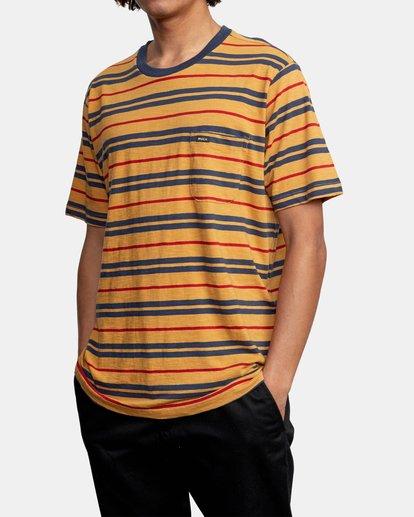 4 Capistrano Stripe - T-shirt pour Homme Gris W1KTRARVP1 RVCA