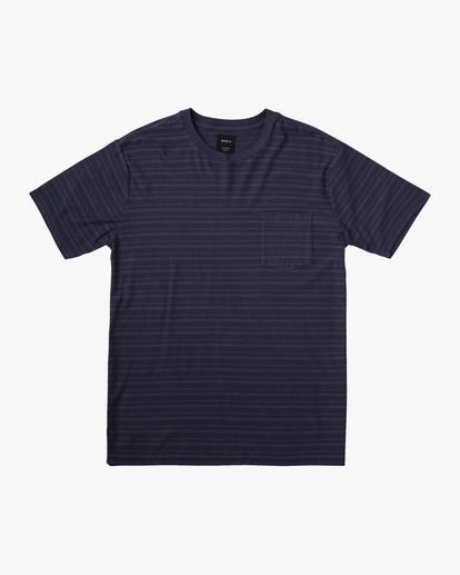 0 Texture Stripe - T-shirt pour Homme Bleu W1KTRDRVP1 RVCA