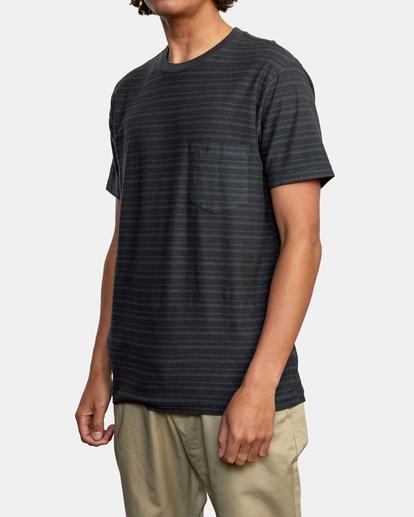 4 Texture Stripe - T-shirt pour Homme Noir W1KTRDRVP1 RVCA