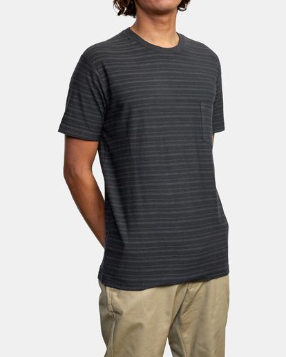 5 Texture Stripe - T-shirt pour Homme Noir W1KTRDRVP1 RVCA